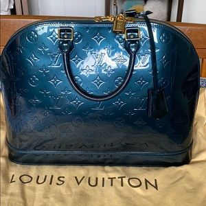 Louis Vuitton Alma Vernis in Blue Nuit
